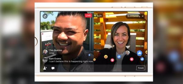 Facebook Live permette di trasmettere video in diretta con un amico